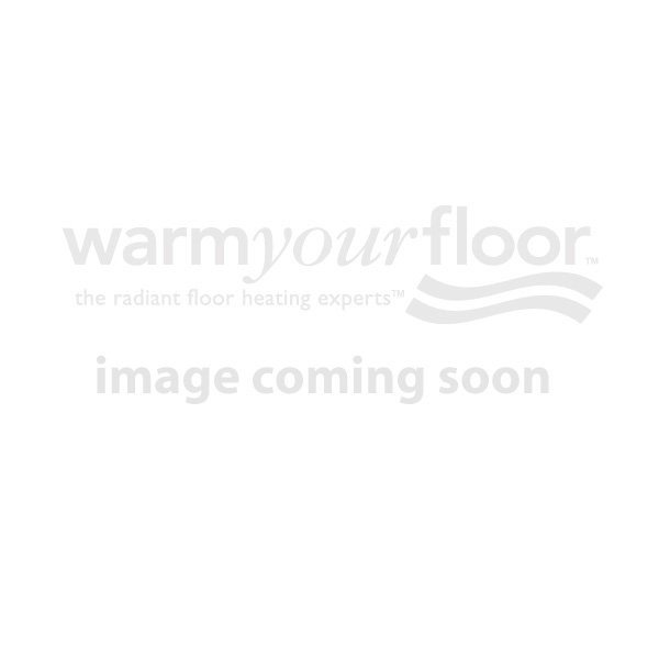 "KERDI-SHOWER-KIT 72"" x 72"" Centered Brushed Brass Drain with PVC Flange"