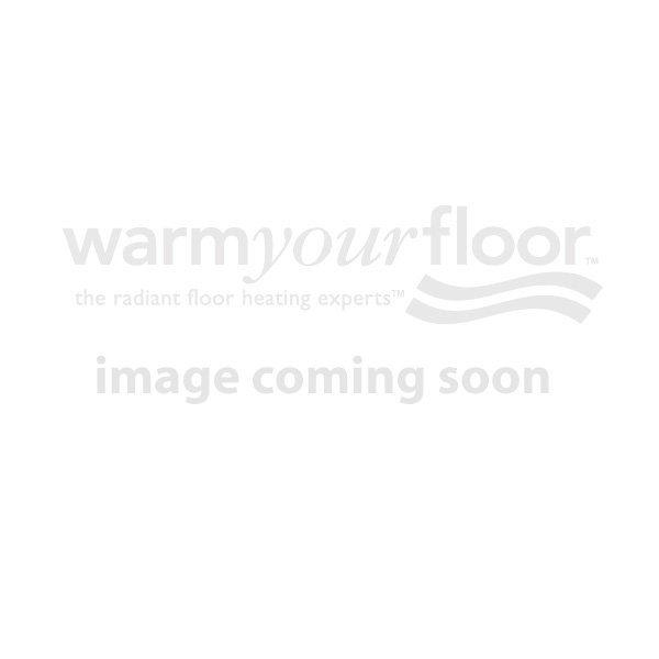 "KERDI-SHOWER-KIT 72"" x 72"" Centered Brushed Nickel Drain with PVC Flange"